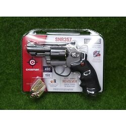 Kyпить Crosman CO2 Dual Ammo Full Metal Revolver Air Gun Pistol - BB & Pellet - SNR357 на еВаy.соm