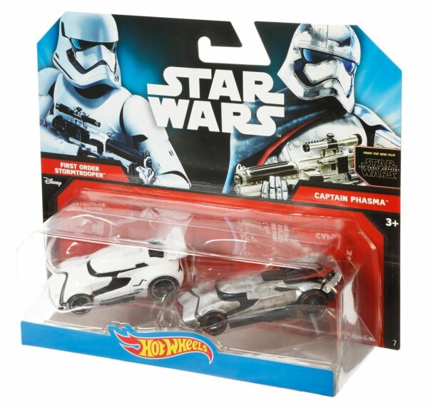 Royaume-UniHot Wheels Star Wars - Stormtrooper & Capitaine Phasma 2 Paquet - CKL35 Asst.