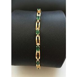 Kyпить 14 k gold 9.3 grams emerald bracelet на еВаy.соm