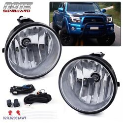 Kyпить Bumper Fog Lights Driving Lamps + Bulbs Complete Kit For 2005-2011 Toyota Tacoma на еВаy.соm