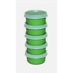 Kyпить New TUPPERWARE Smidgets w/ Sheer Seals in Green! Set of 5 FREE US SHIPPING  на еВаy.соm