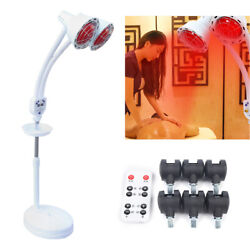 275W IR Infrared Red Heat Light Therapy Bulb Lamp Muscle Pain Relief Floor Stand