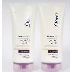 2 Count Dove 6.76 Oz Derma Spa Youthful Vitality With Serum Dry Skin Body Lotion