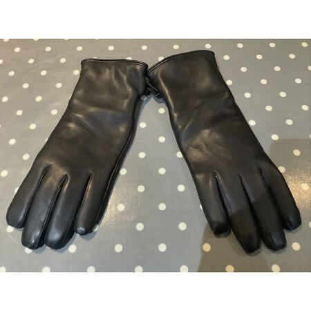 img-New British Army Black Leather Gloves /fully waterproof ,Security,Police Size 7