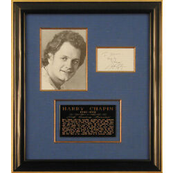 Kyпить HARRY CHAPIN - AUTOGRAPH QUOTATION SIGNED на еВаy.соm