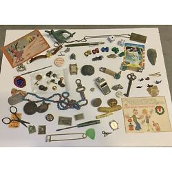 Kyпить Vintage JUNK DRAWER LOT Jewelry 10K Watch Boy Scouts Stamps Metal Cracker Jacks на еВаy.соm
