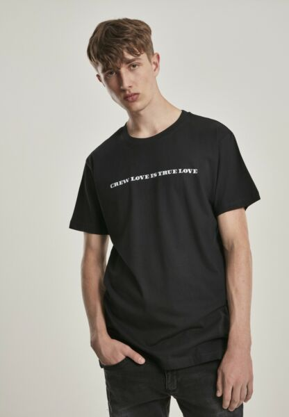 AllemagneMister Tee T-Shirt Crew Love Is  Love Tee Black
