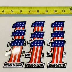 Kyпить 9 Pack Harley-Davidson Number One #1 American Flag Decals Stickers на еВаy.соm