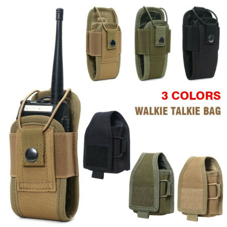 img-Tactical Molle GPS Radio Pouch Police Security Walkie Talkie Bag Belt Holder Bag
