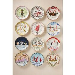 Kyпить NEW Anthropologie Inslee Fariss Twelve 12 Days Christmas Dessert Plate Holiday на еВаy.соm