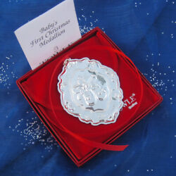 Kyпить NEW • Towle BABY'S FIRST CHRISTMAS Sterling Silver Ornament - Engravable  на еВаy.соm
