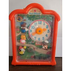 Vintage Mattel Fun O'Clock Toy with Glass Marbles 1976 - for parts or repair