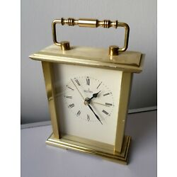 Kyпить SOLID BRASS CASE ACCTIM QUARTZ ALARM CARRIAGE CLOCK  на еВаy.соm