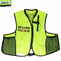 Kyпить Snorkeling Oral Inflatable Snorkel Jacket Vest Pockets Adult One Size Neon Color на еВаy.соm