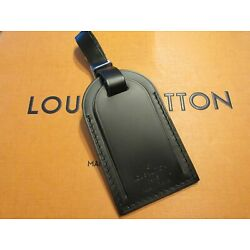 Kyпить Authentic Louis Vuitton Large Black Leather Luggage Tag w/Silver hw  UNSTAMPED на еВаy.соm