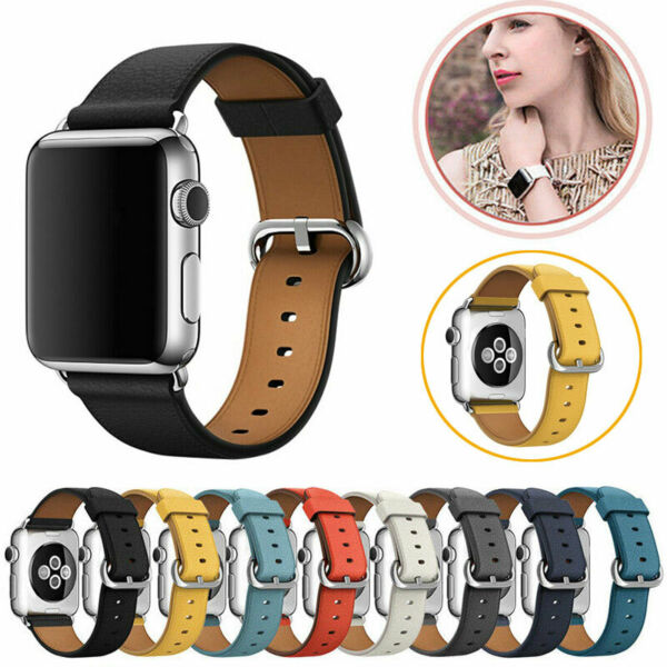 DeutschlandFür Apple Watch iWatch Series 6/5/4/3/2 Leder Armband Strap  38/40/42/44