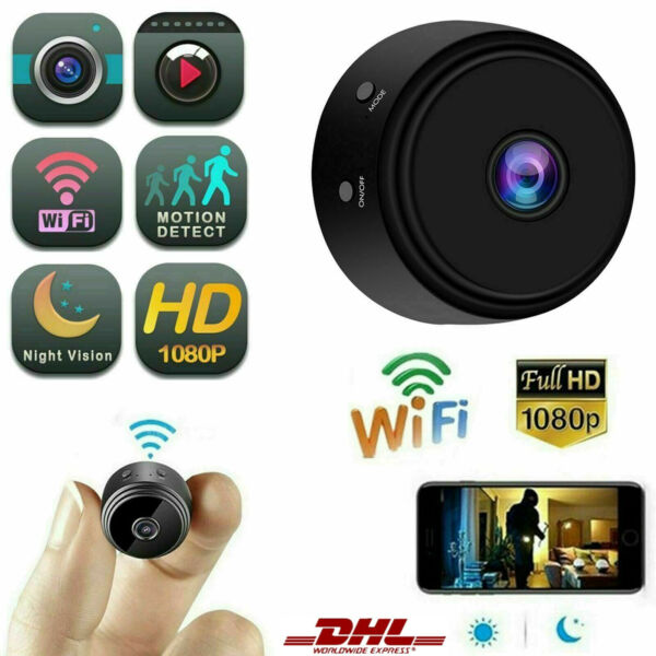 Tschechische Republike WiFi Mini IP Kamera DVR Hidden Home Security Nachtsicht HD 1080P S7S4