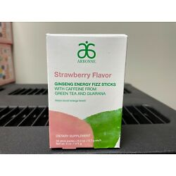 Kyпить Arbonne Ginseng Energy Fizz Sticks- 30 pack Strawberry EXP 04/2022 на еВаy.соm