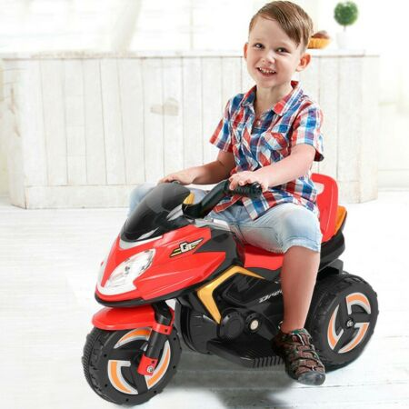 img-Kids Childrens Outdoor Ride On 3 Wheel Electric Motorcycle Toy Headlights Music