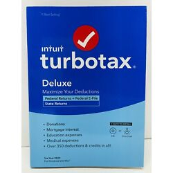 Kyпить Intuit TurboTax Deluxe 2020 Federal State Return Efile for Windows/Mac TURBO TAX на еВаy.соm