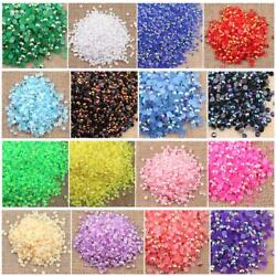 Kyпить 5000 pcs Rhinestone AB Milk Jelly 2mm 3mm 4mm 5mm 6mm Flatback Resin Crystal #01 на еВаy.соm