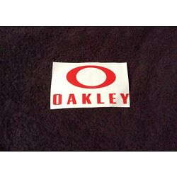 Lot of 4 Total Oakley Decals. 2 Red & 2 White
