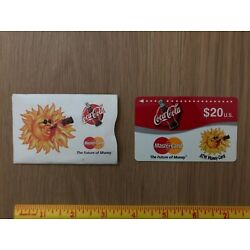 Coca-Cola MasterCard ATM stored value card used with sleeve 1997 Cirrus
