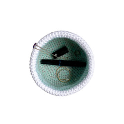 Cotton Catchall Teal/White/Gray