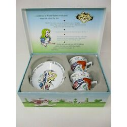 Paul Cardew Alice In Wonderland Cafe 6.5 Oz Expresso Cup & Saucer Set In Box