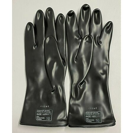 img-British Army NBC (Outer) MK II Chemical Warfare Gloves- Size 10 - 1997-2002- NEW