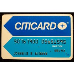 Kyпить Citicard charge card exp 1993 ◇free ship◇cc1862 на еВаy.соm