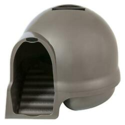 Booda Dome Cleanstep Litter Box Sleek Step Design Built in Handle Ramp Scatters