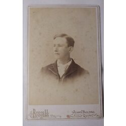 Kyпить Victorian Antique Cabinet Card Photo of Young Man Name Phil Sullivan, Signed на еВаy.соm