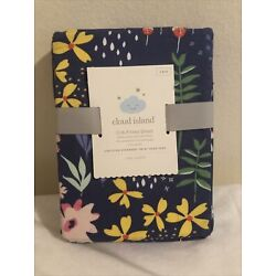 Kyпить Fitted Crib Sheet Wildflower Dark - Cloud Island™ Navy Floral на еВаy.соm