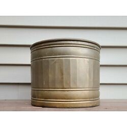 Kyпить  Large Solid Brass Tree Planter Pot Rustic Vintage Hand Crafted in India  на еВаy.соm