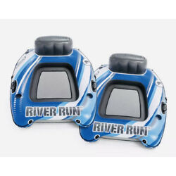 Kyпить Intex River Run 1 Sports Lounge Inflatable Floating Tubing Water Raft (2 PACK) на еВаy.соm