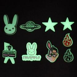 Kyпить NEW 9 pc BAD BUNNY Shoe Charms FOR Croc & Bracelet & shoe Wristband Glow In Dark на еВаy.соm