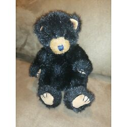 Kyпить 1992 TY Inc Vintage Rare PVC Pellets Black Bear Stuffed Animal Original 9