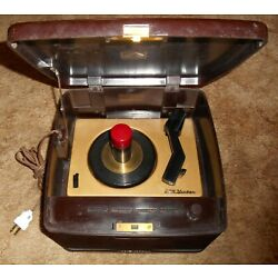 Kyпить RCA 45-EY-3 BAKELITE RECORD PLAYER, HUMS, EXCELLENT PHYSICAL CONDITITON на еВаy.соm
