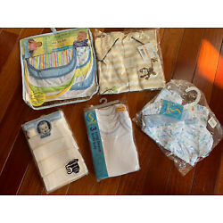 Kyпить NEW Preemie Baby Clothes and Bibs Lot Of 5 All NEW in Package на еВаy.соm