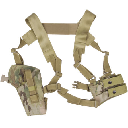 img-Flyye Tactical Shoulder Holster MOLLE System Panel Airsoft Cordura MultiCam Camo