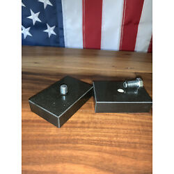 Beer Tap Handle Base Display Stand w/Bolt, Genuine Black Marble Size 2