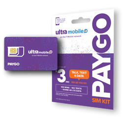 Kyпить Ultra Mobile PayGo | $3/mo. Pay As You Go Plan + SIM Card with Talk, Text & Data на еВаy.соm