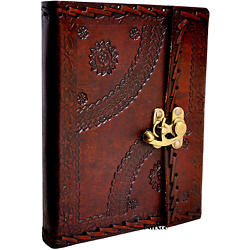 Kyпить Genuine Handmade Vintage Leather Bound Journal with Lock for Men Women Large на еВаy.соm