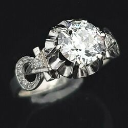 Kyпить GIA Cert Antique VS1F Old European Cut Diamond Platinum Ring Engagement Art Deco на еВаy.соm