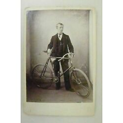 Kyпить Cabinet Card : Man with his New Safety Bicycle  на еВаy.соm