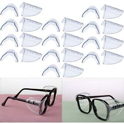 Hub s Gadget 12 Pairs Safety Eye Glasses Side Shields, Slip On Clear