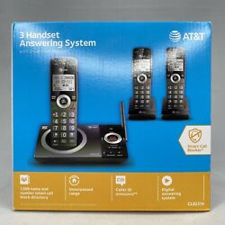 AT&T 3 Handset answering system Cordless Telephone Smart Call Blocker CL82319