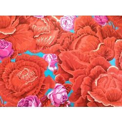 Kaffe Fassett CABBAGE PATCH RED RUST    34.5 INCHES X WOF     GP90