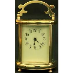 Kyпить COUILLETT FRERES ANTIQUE FRENCH OVAL 8 DAY TIMEPIECE CARRIAGE CLOCK на еВаy.соm